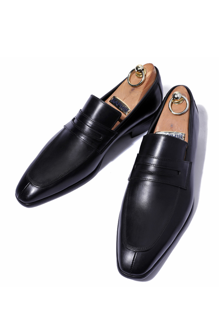 Take404 artisan penny loafer/black[italy calf-bologna.ver]
