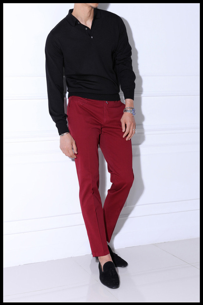 Take405 Larusmiani milano-italy garment dye pants/washed rose red마지막수량 30%SALE!!