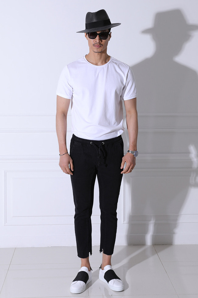 Banding crop pants/black-수입한정수량 Best Seller