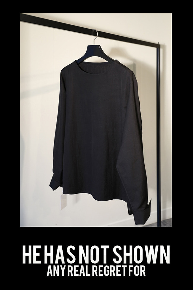 Wide neck overfit shirt/4color-스페셜오더-