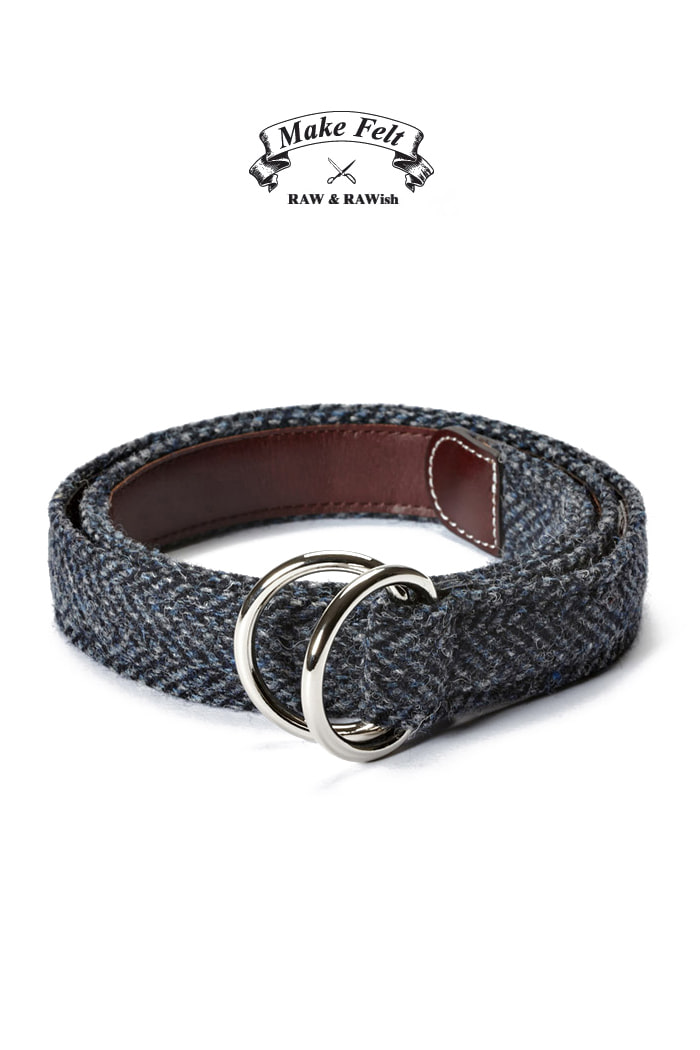 Make Felt Harris Tweed herringbone D-ring belt[Harris Tweed]