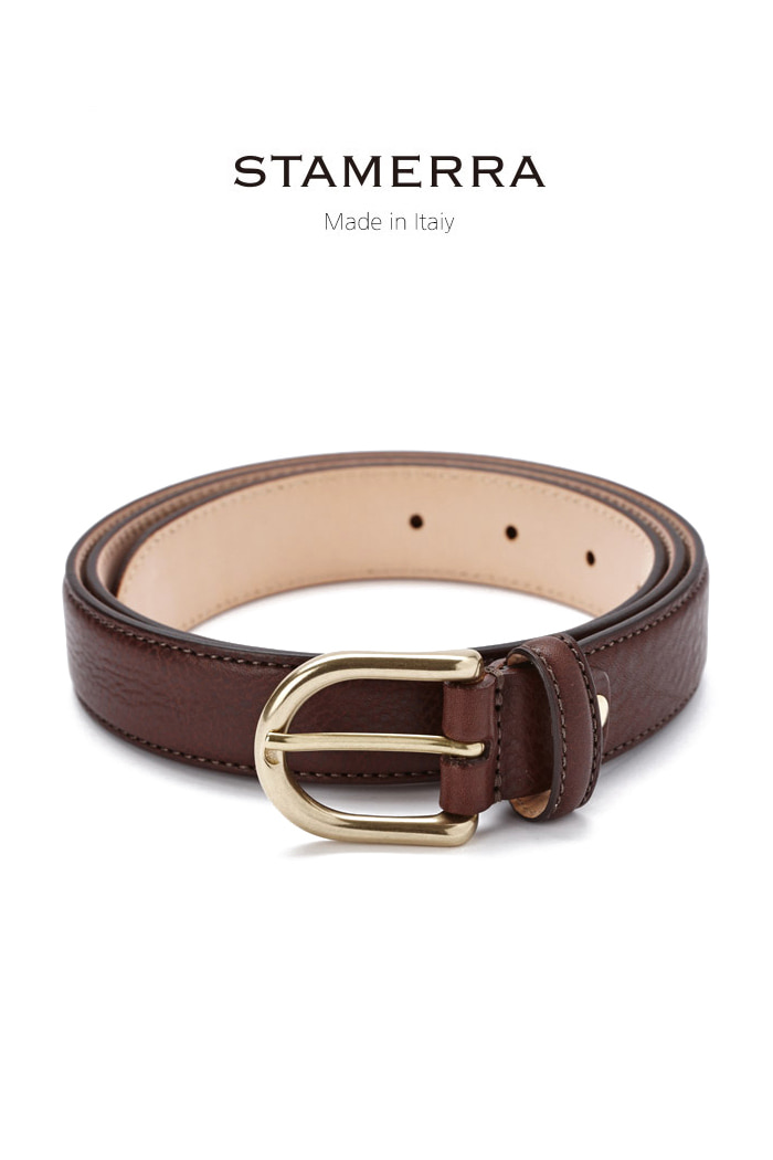 STAMERRA buffalo round belt/dark brown-한정판!-사이즈 조절가능