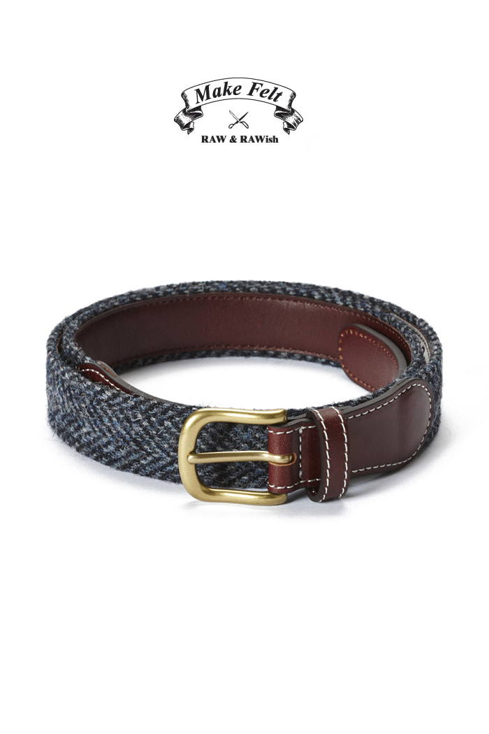 Make Felt Harris Tweed herringbone classic belt-한정판!