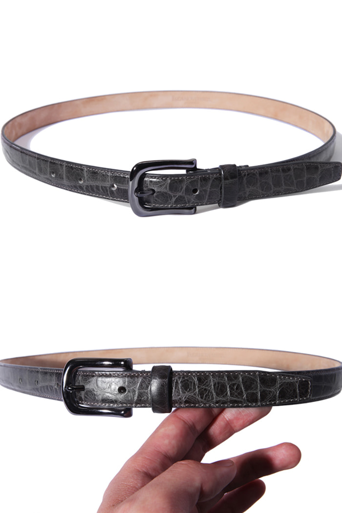 Take259 artisan crocodile belt/gray[black label series]
