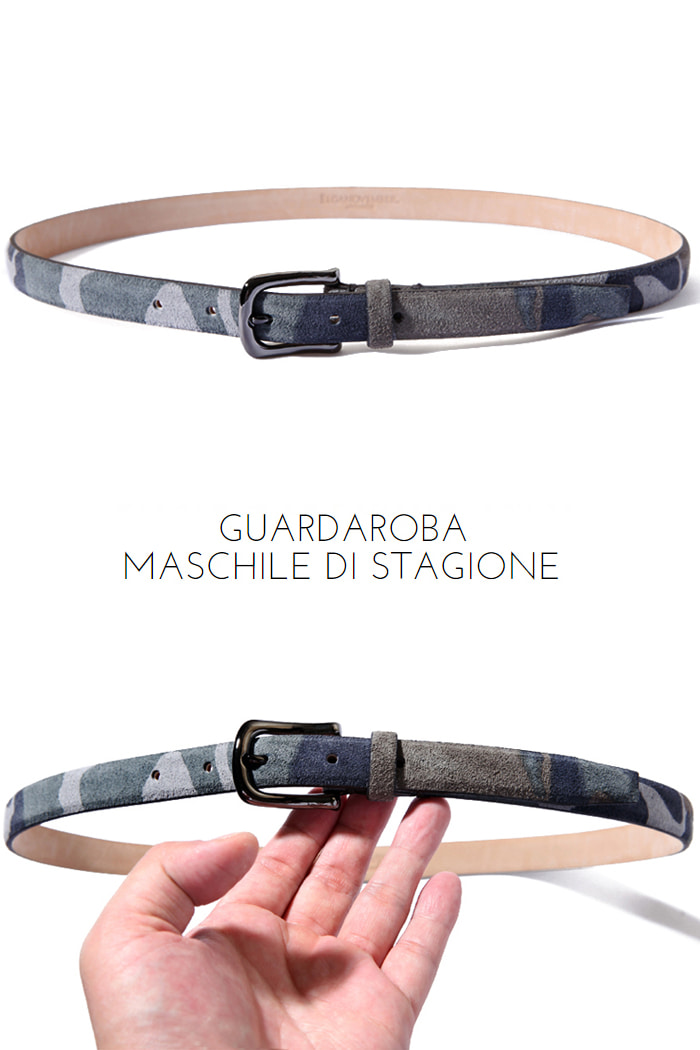 Take273 artisan Camouflage belt/gray[black label series]