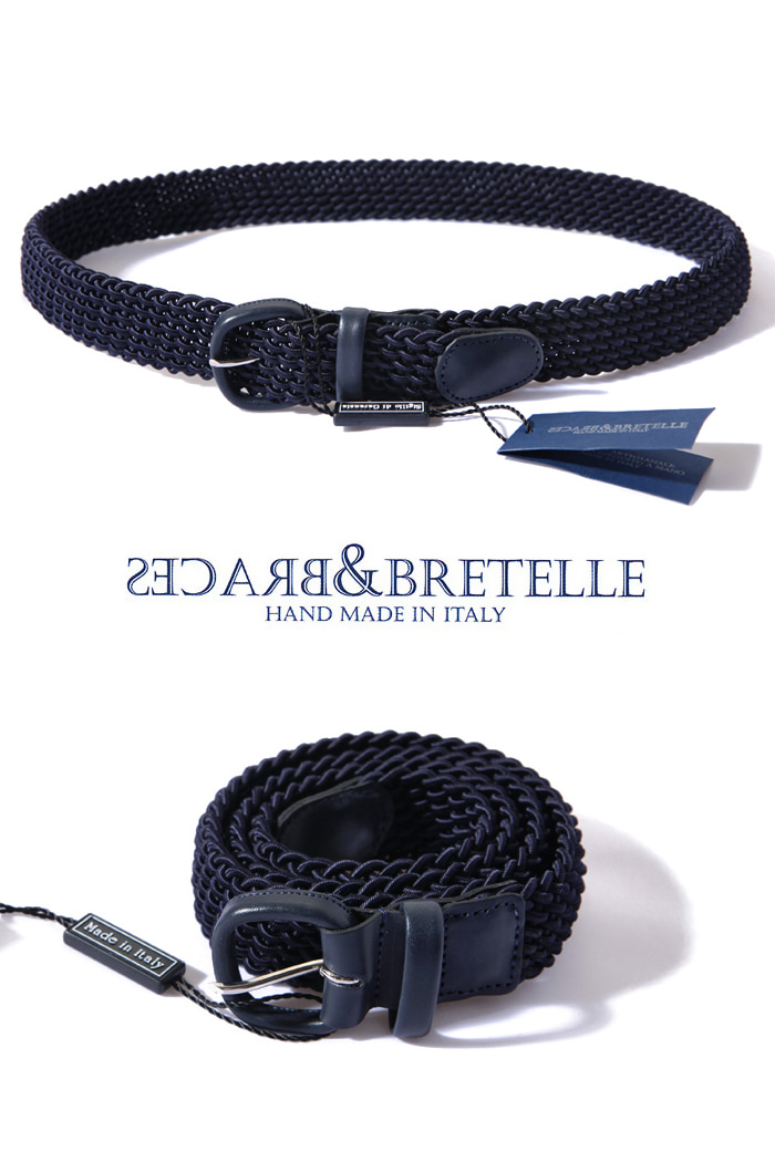 Bretelle&Braces belt/navy[made in Italy]