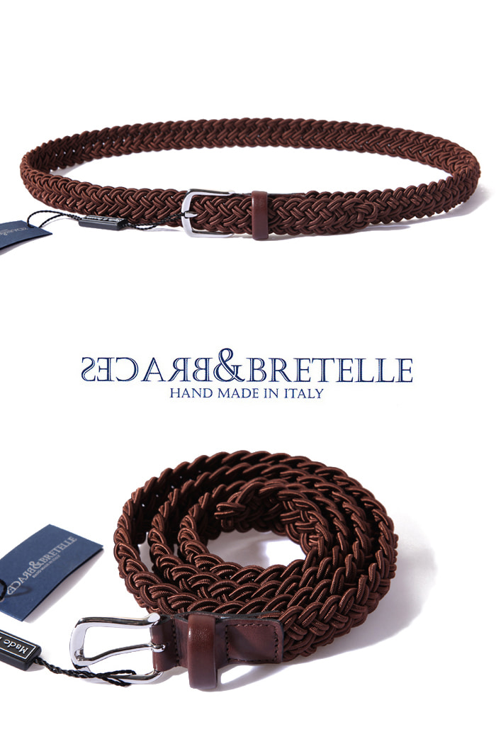 Bretelle&Braces belt/brown[made in Italy]