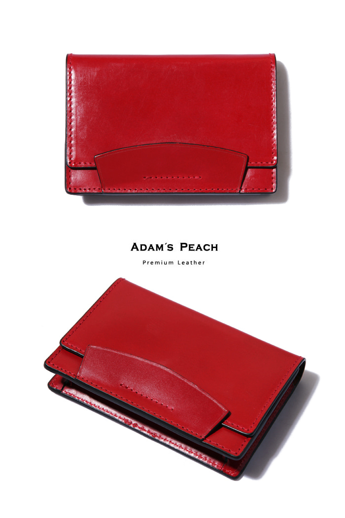 Red Bridle Leather Card case[premium-special order-limited]