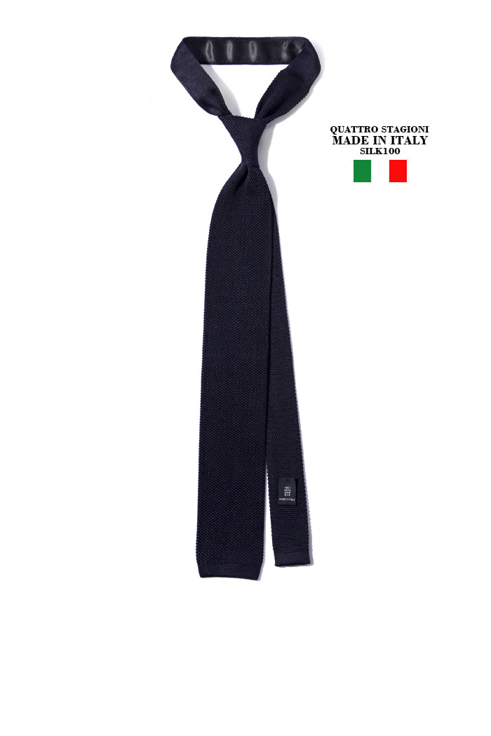 Take380 Quattro stagioni silk knit tie/navy[MADEIN ITALY-SILK 100%]2018FW 소량 재입고완료-1/2이상판매완료!