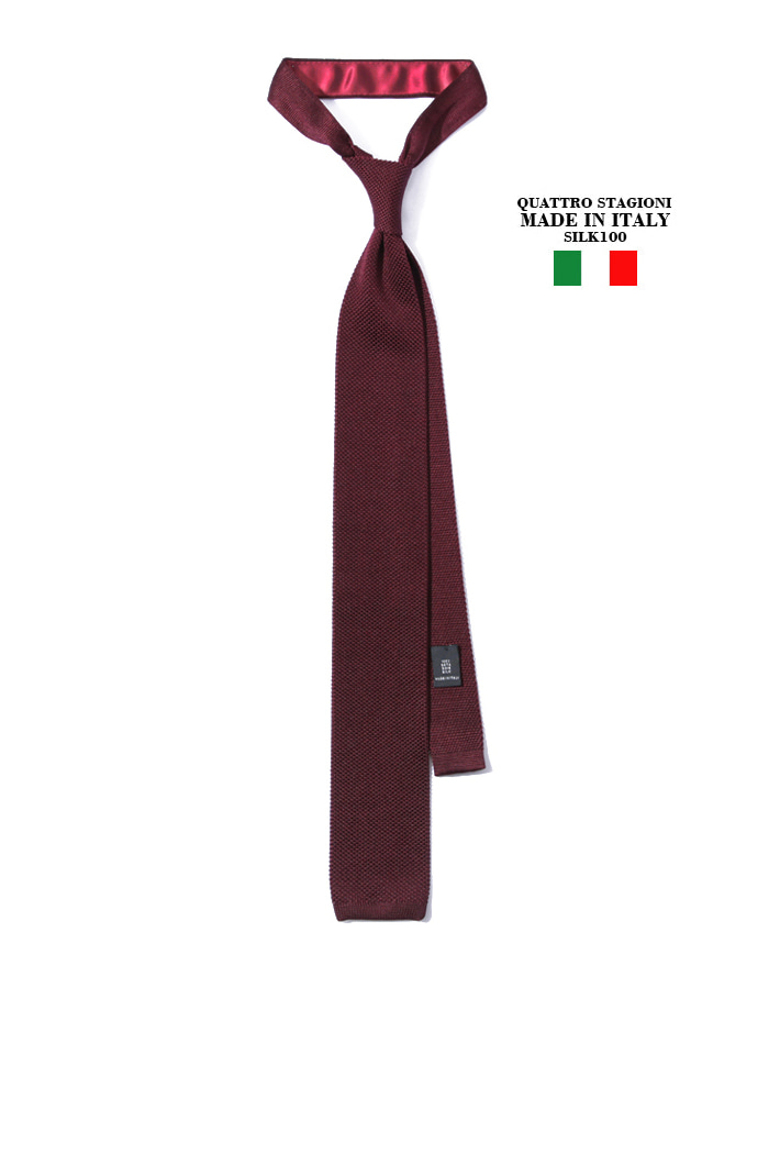 Take387 Quattro stagioni silk knit tie/wine[MADEIN ITALY-SILK 100%]2018FW 소량 재입고완료-1/2이상판매완료!