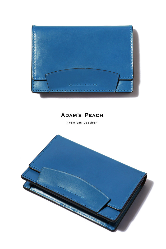 Sky blue Bridle Leather Card case[premium-special order-limited]