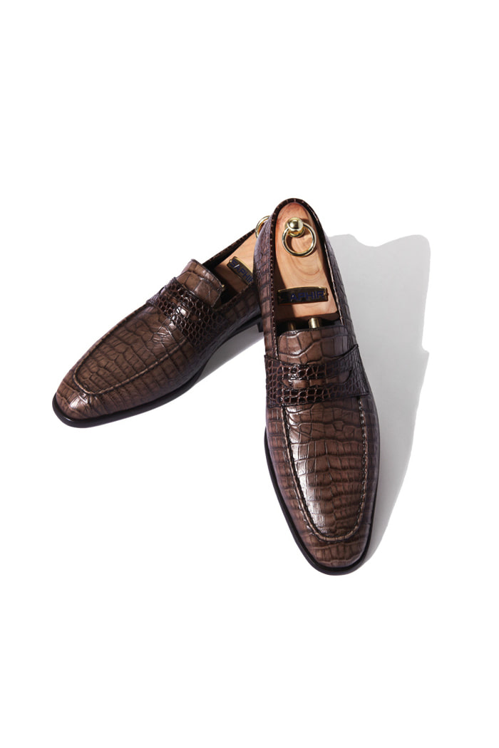 Take261 artisan loafer/Crocodile brown[black label series]
