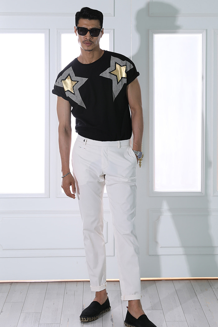 Stelle d'epoca t-shirt/Black-수입한정모델-