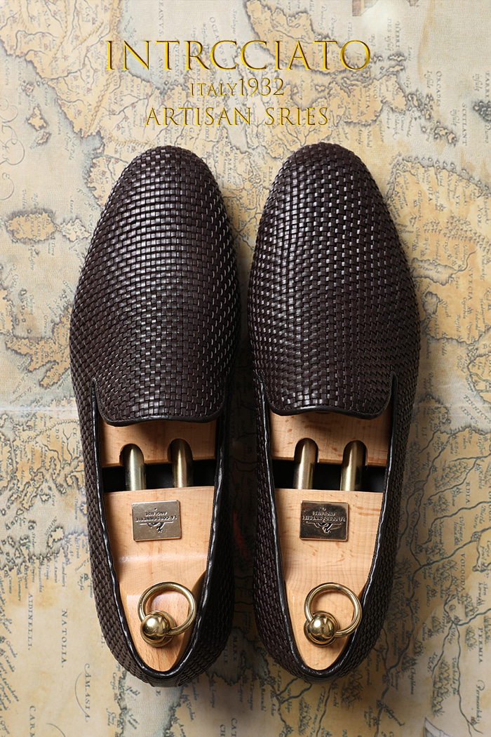 Take444 artisan intrecciato loafer/brown-프리미엄 에디션-