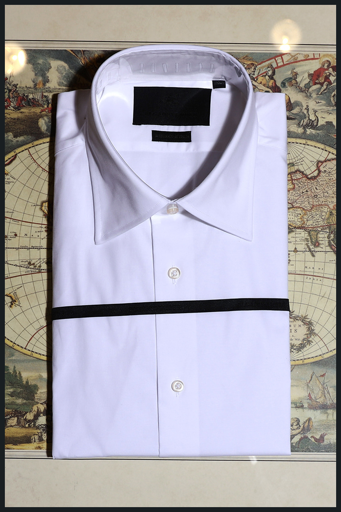 Take431 italia Andreazza&Castelli regular shirt/white-품절임박!