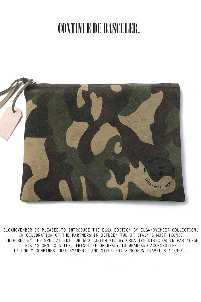 Multi camo clutch bag