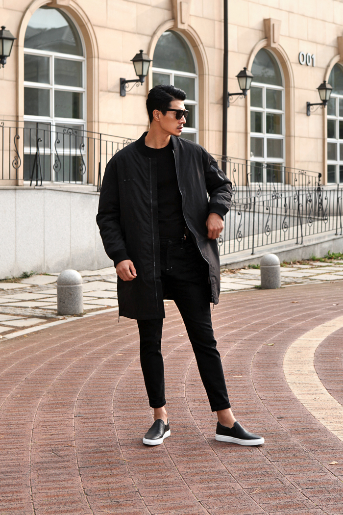 Absolense down long field jacket/black-수입한정판