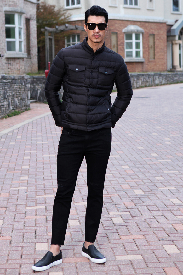 Marquis light down jacket/black[slim fit]