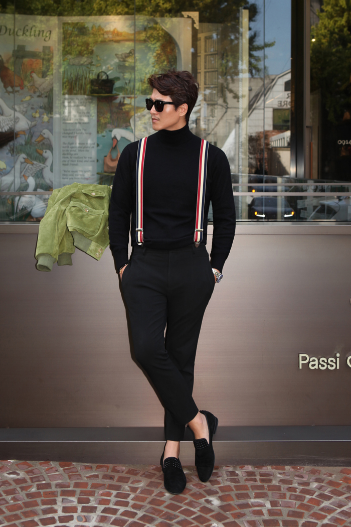 Take302 cashmere turtleneck knit/black[black label series]
