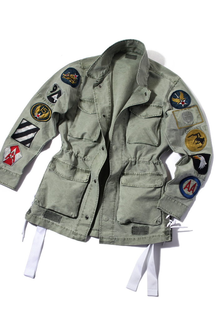 Illuminate patch military jacket/light khaki-수입 한정 추천 제품