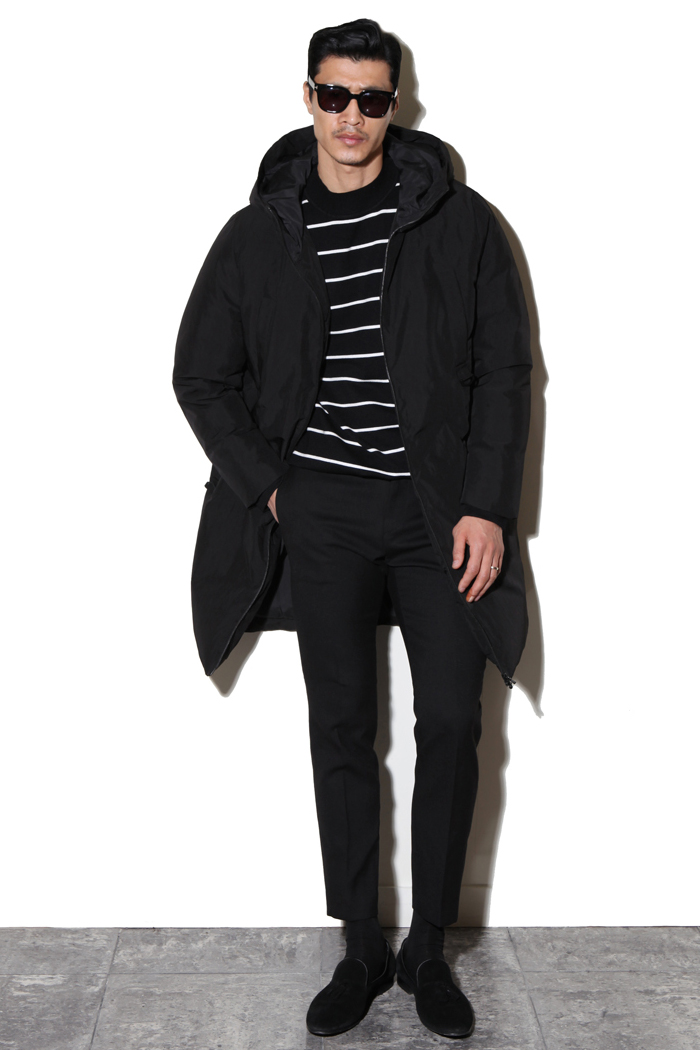 Paramount long padding coat/black-수입 한정 제품