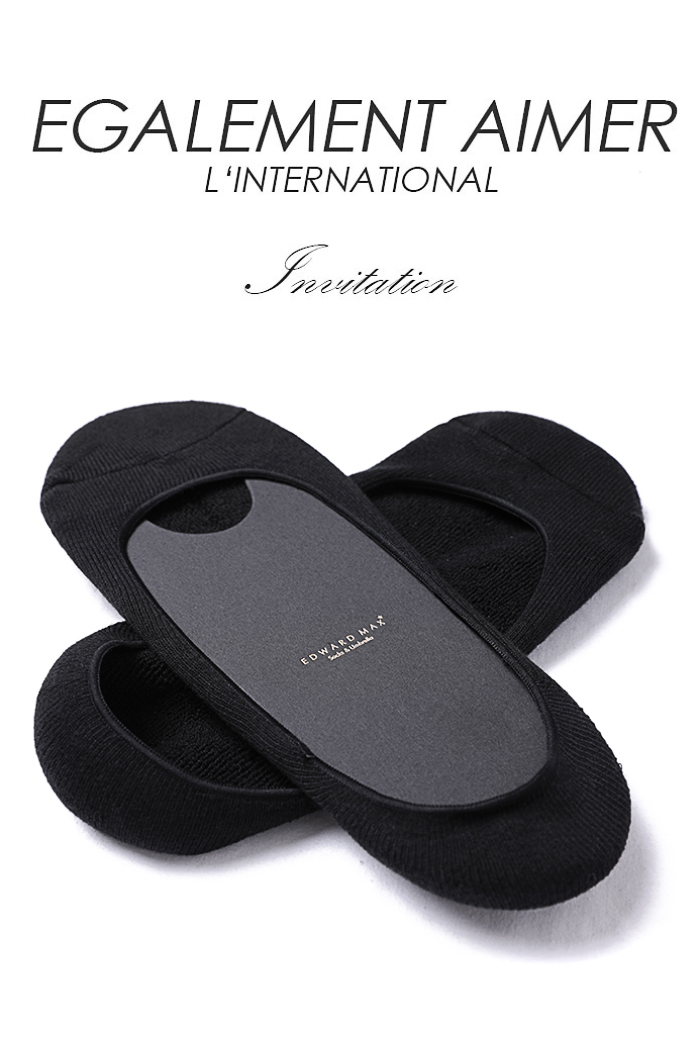 CLASSIC LOAFER SOCKS-black[special order]
