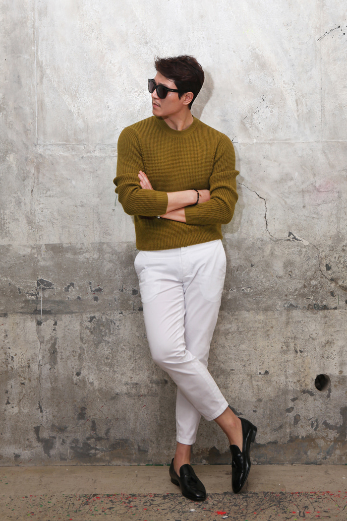 7G waffle round knit/4color-스페셜오더!