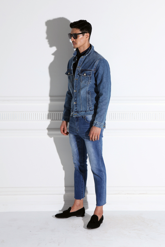 Valerian basic denim jacket/2color