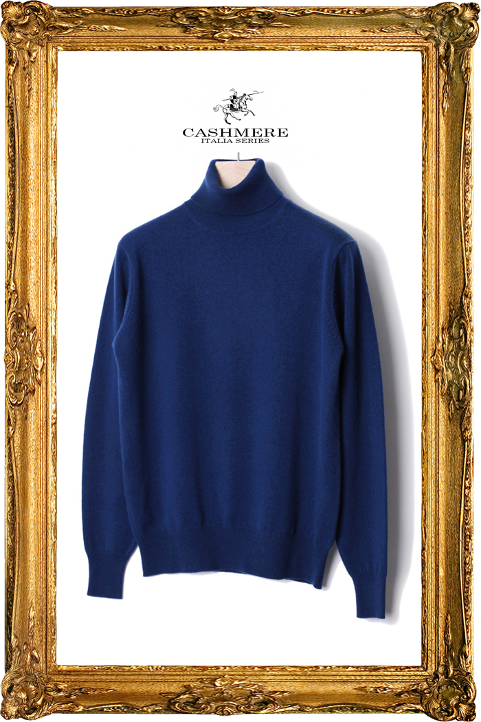 TAKE453 ROYAL CASHMERE TURTLENECK-CORSA BLUE[ITALIA SERIES]이탈리아 캐시미어 터틀넥-1/2이상판매완료!