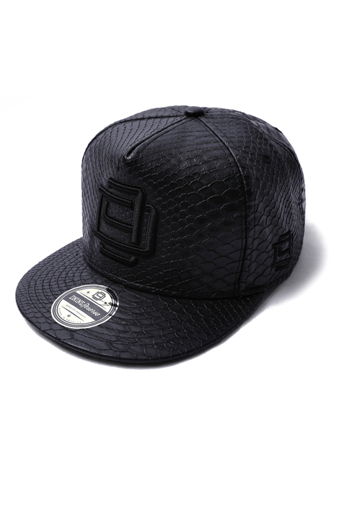 D9 LEATHER SNAPBACK-BLACK[PREMIUM]수입한정제품!