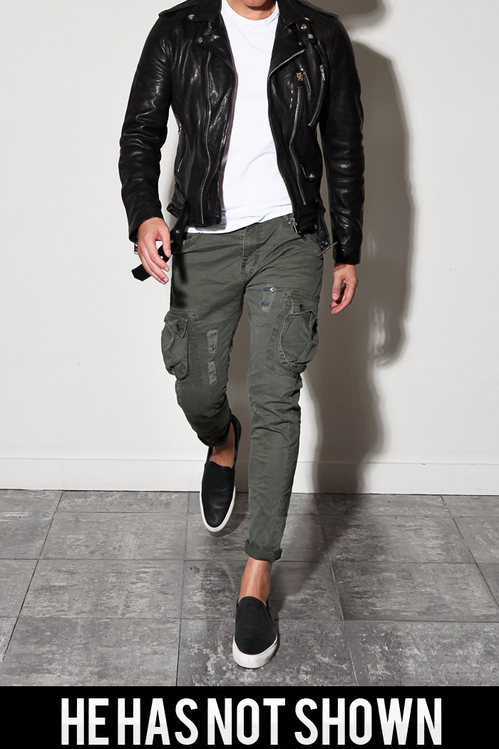 RG6801 slim cargo pants/khaki[slim fit]