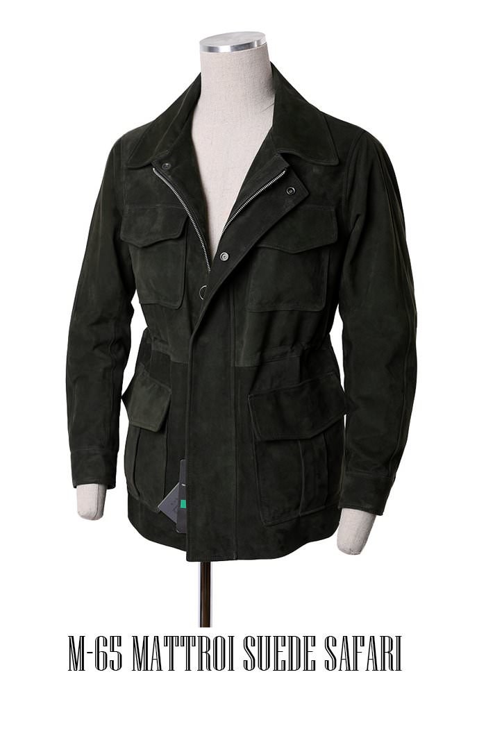 MATTROI SUEDE SAFARI JACKET-2COLOR[GOATSKIN]스페셜오더-극소량한정수량!