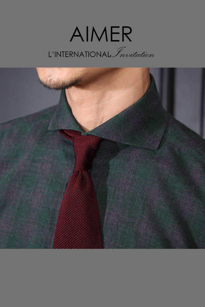 Take386 italia tartan check shirt/deep green[Italy series]-마지막수량-25% SALE