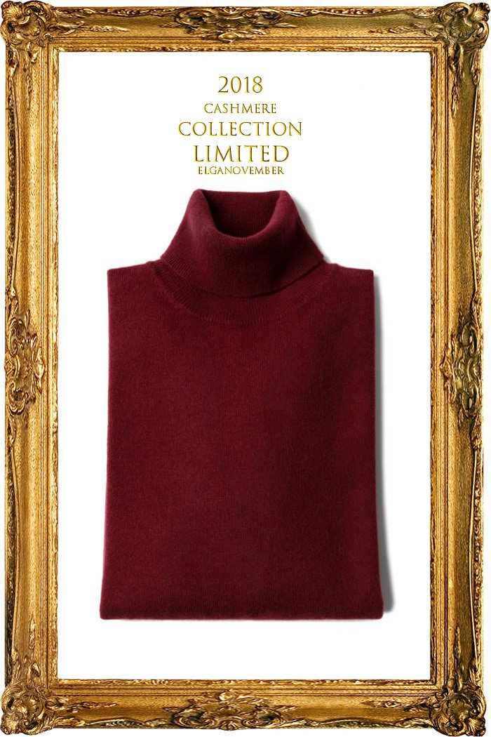 TAKE457 ROYAL CASHMERE TURTLENECK-FORTE WINE[ITALIA SERIES]캐시미어 터틀넥-BEST SELLER-품절임박!