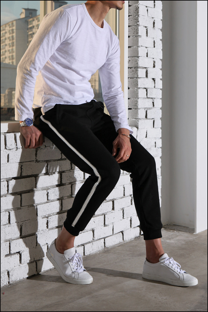 TRACK heavy sweat pants/2color[slim straight fit]