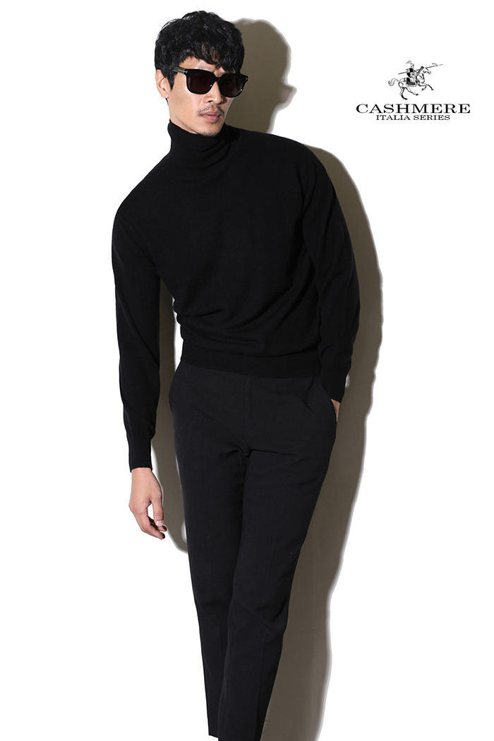 TAKE455 ROYAL CASHMERE TURTLENECK-BLACK[ITALIA SERIES]캐시미어 터틀넥-BEST SELLER!-1/2이상판매완료!