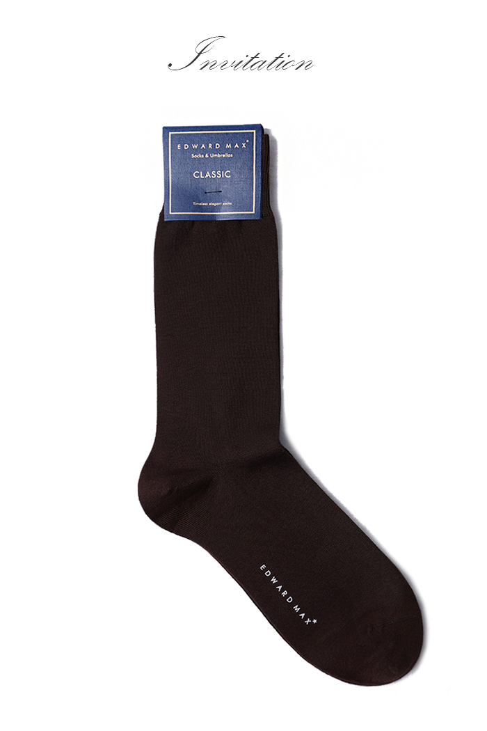 SOLID17 CLASSIC SOCKS-BROWN[special order]프리미엄-적극추천!