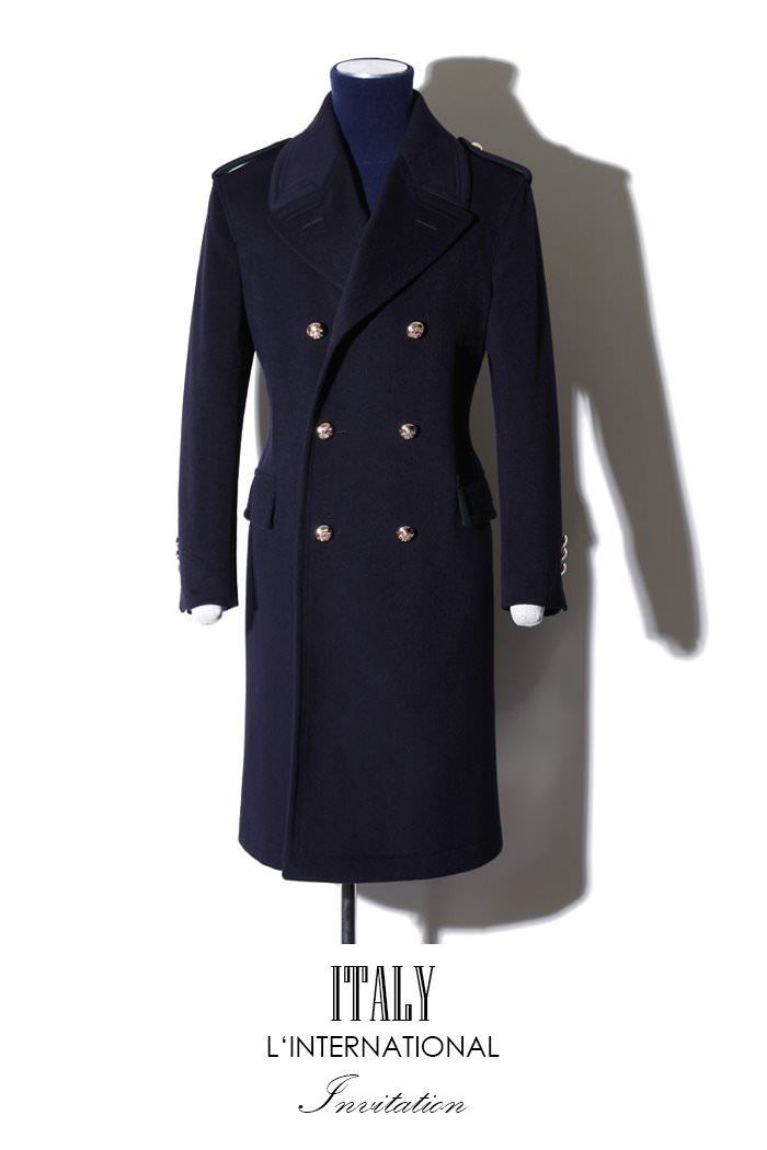 Take399 Commander Italy cashmere coat/navy[Italy series limited edition]