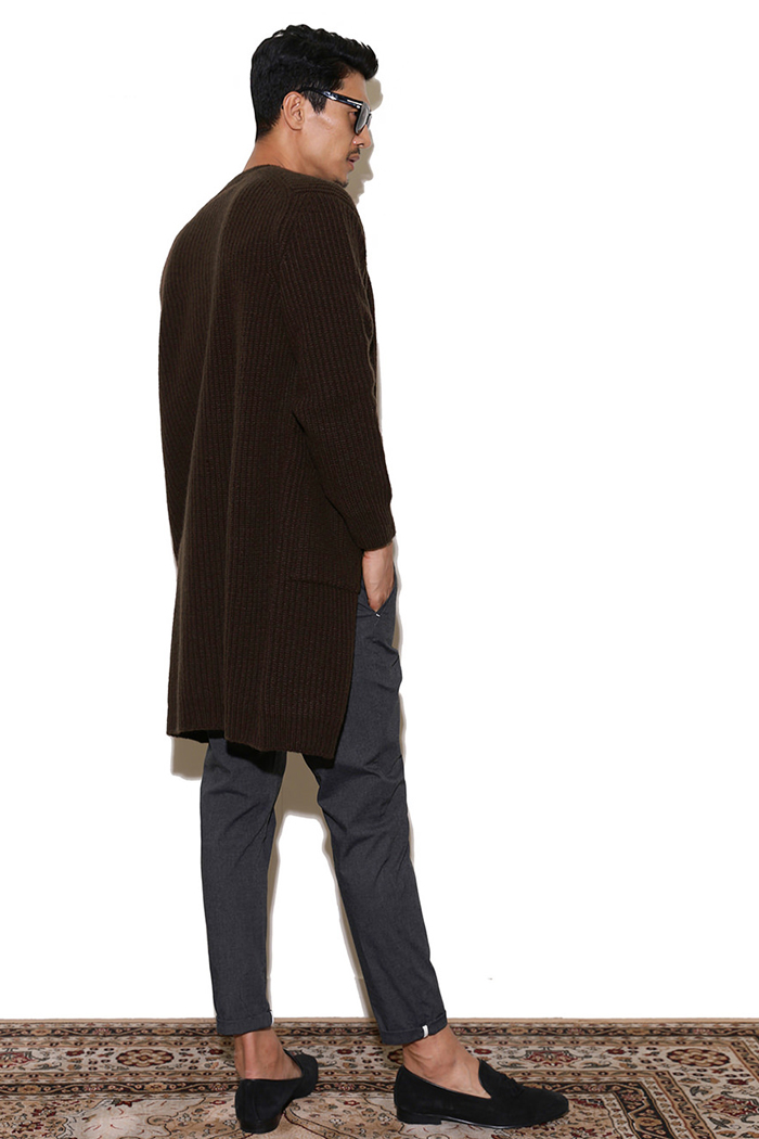 BOTTO Air wool long cardigan - dark brown[Italy yarn]스페셜오더!-한정수량!