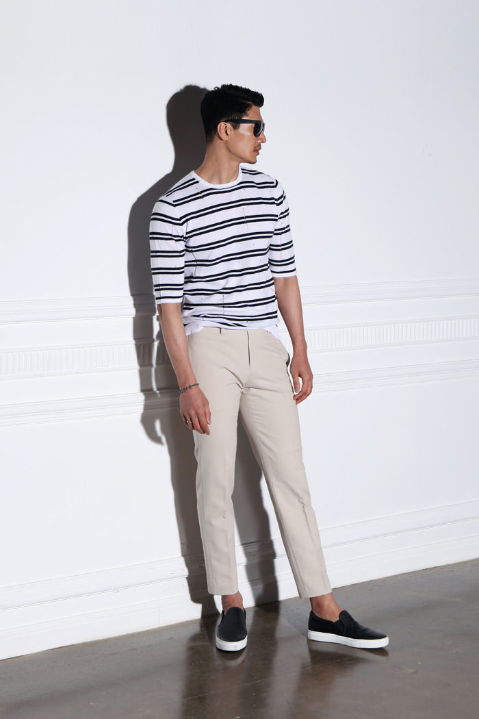 Aven Iattice pattern chino pants/2color