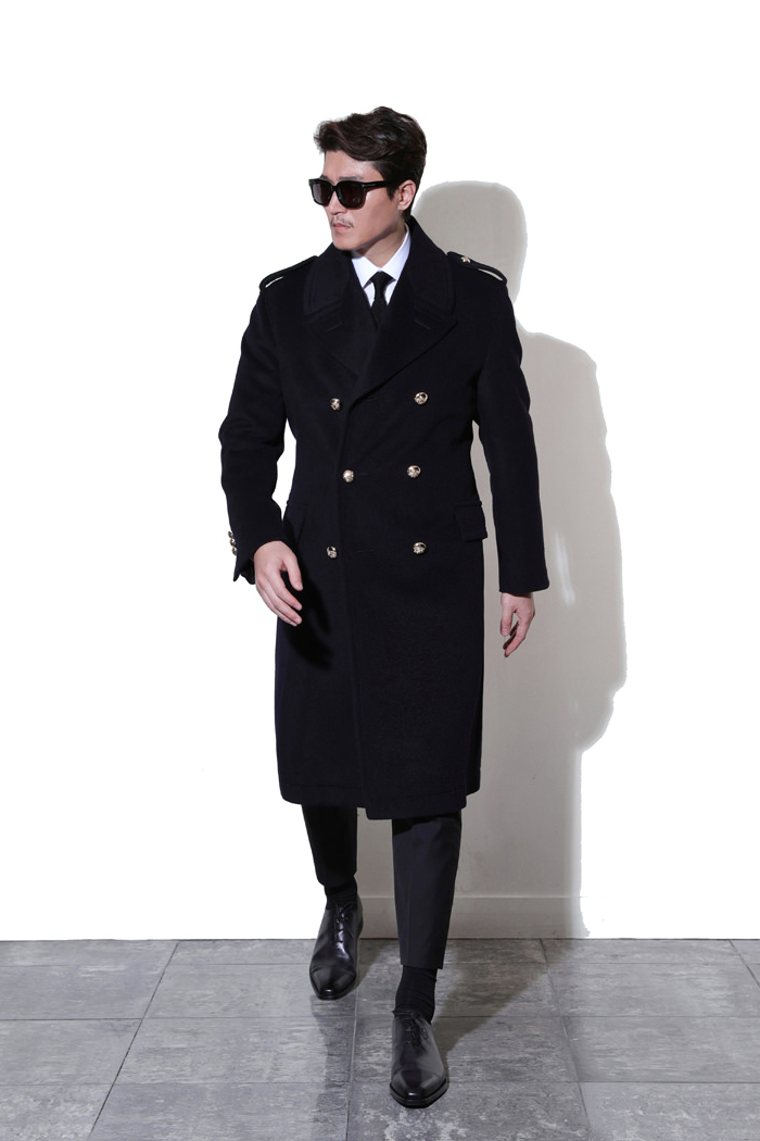 Take399 Commander Italy cashmere coat/navy[Italy series limited edition]2018FW 극소량재입고!