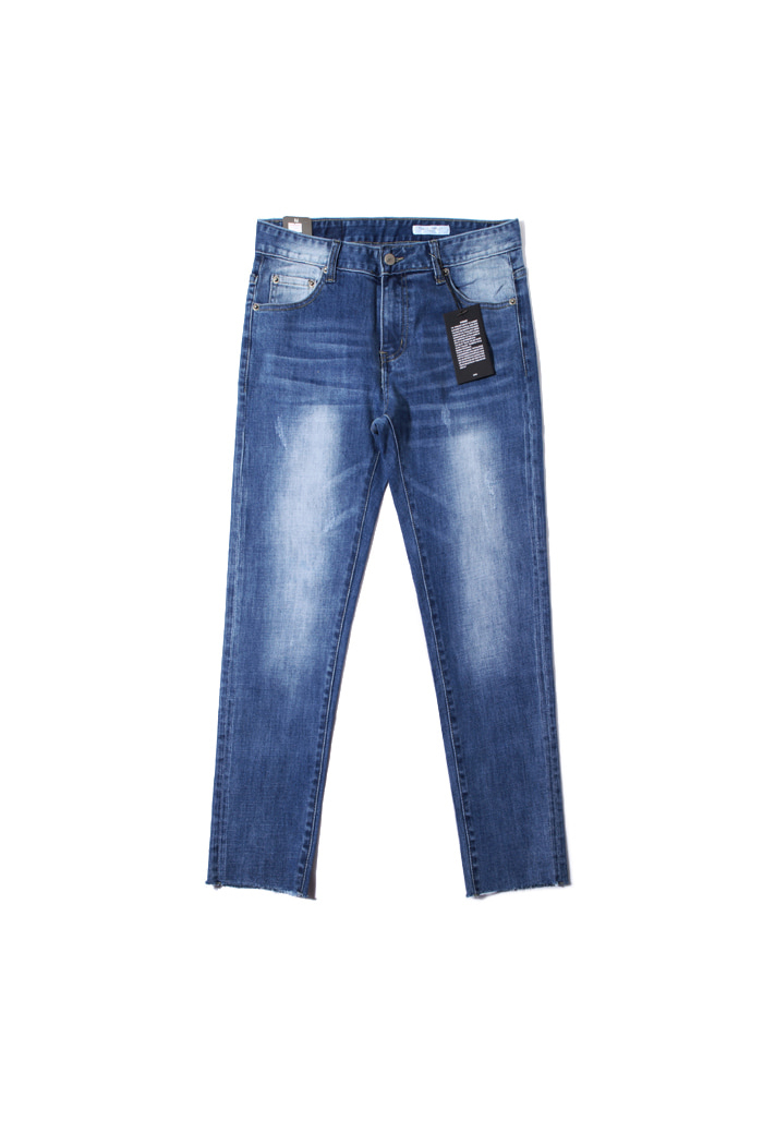 Black B. washed cutting slim jeans/blue[slim fit]