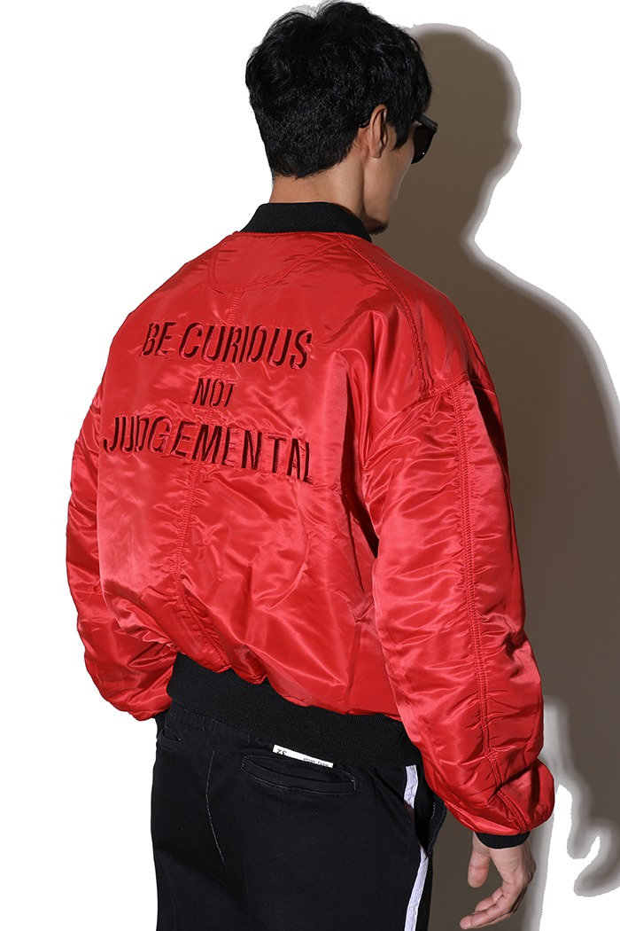 REVERSIBLE BOMBER JACKET-BLACK&RED[SPECIAL ORDER PRODUCT]
