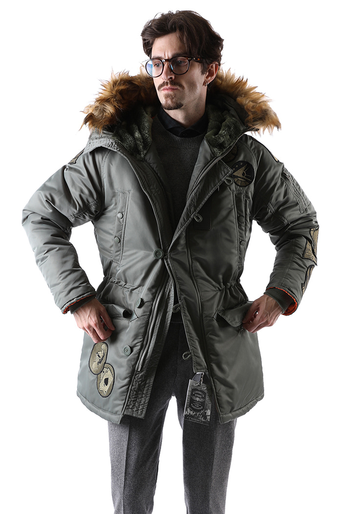 X-N3B PATCH PADDING COAT-2COLOR