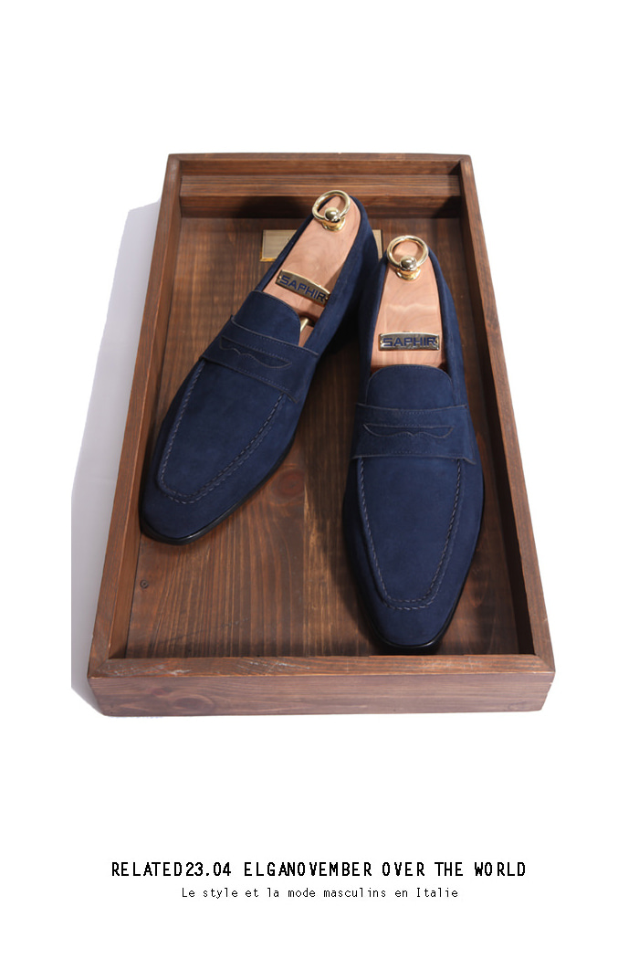 Take209 artisan loafer/navy[black label series bologna.ver]