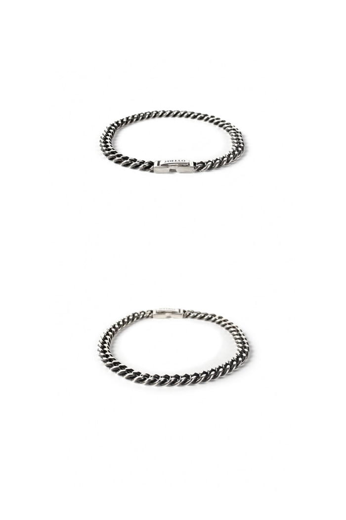 Flat chain 5mm bracelet[premium-hand made]