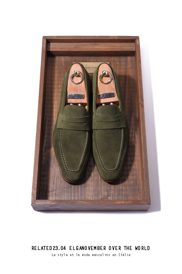 Take216 artisan loafer/khaki[black label series bologna.ver]