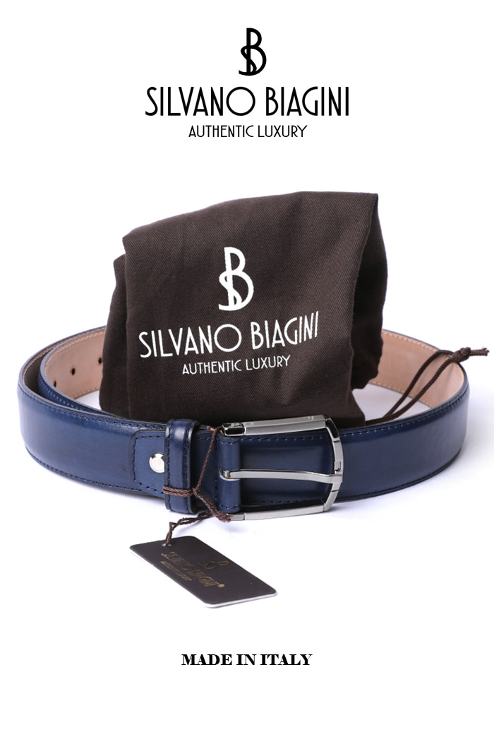 SILVANO BIAGINI BELT-NAVYSPECIAL ORDER-MADE IN ITALY