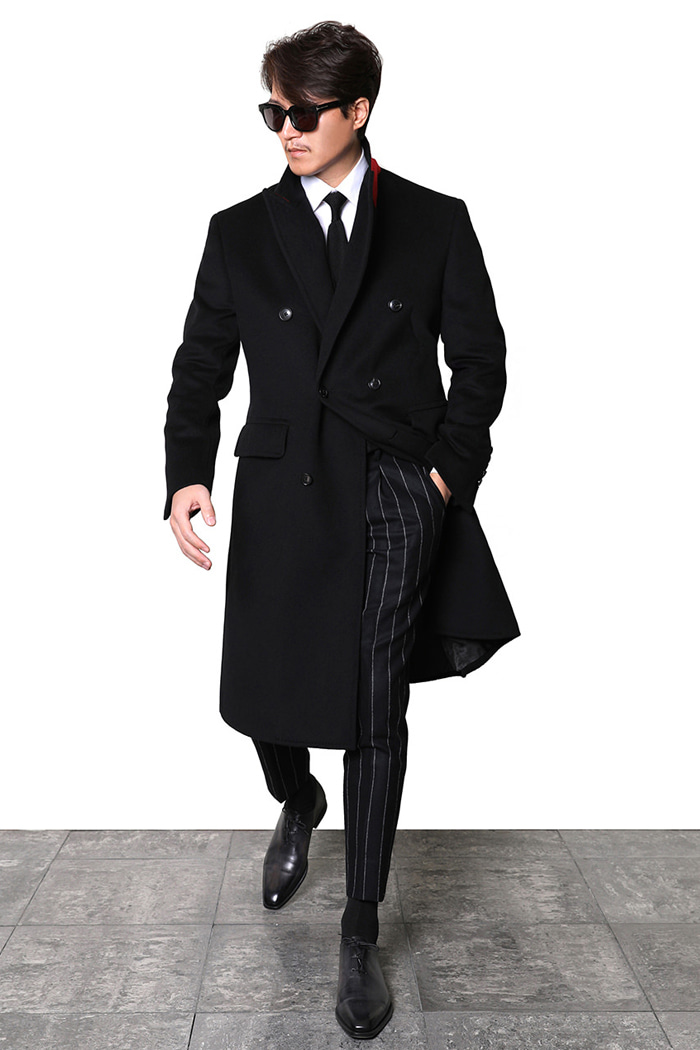 TAKE469 GENERA ITALY CASHMERE DOPPIO COAT-BLACK품절임박!