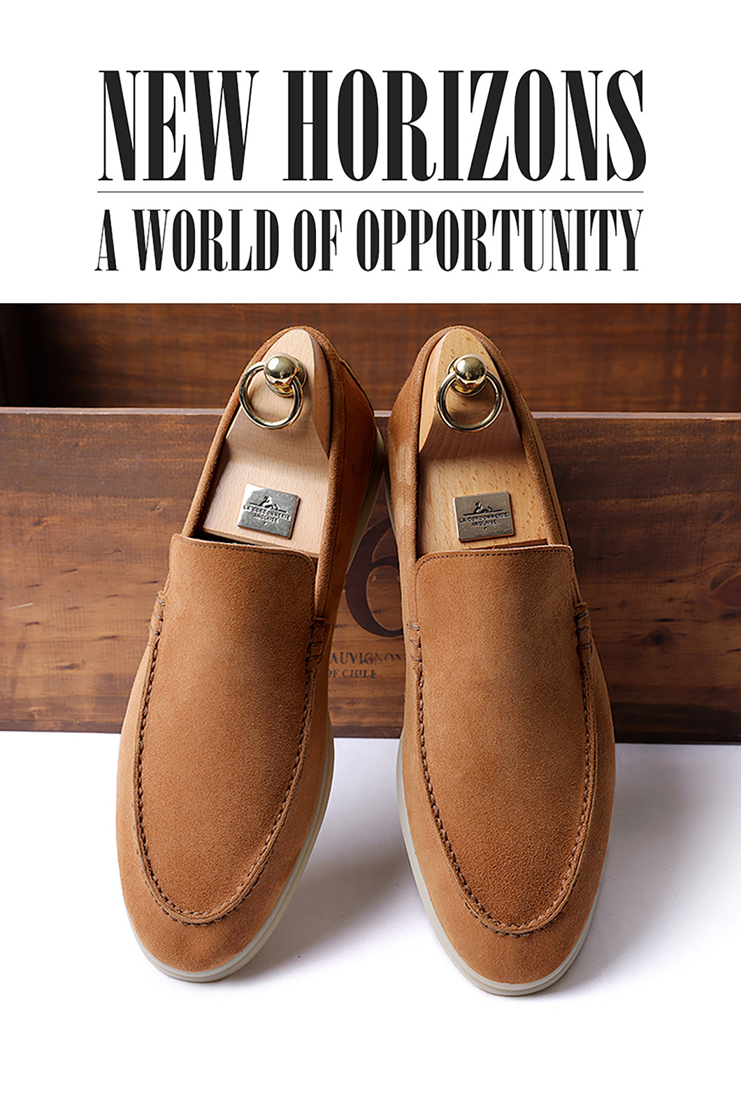 LOWER SUEDE LOAFER-CAMELITALY Leather 250 size 당일 발송!